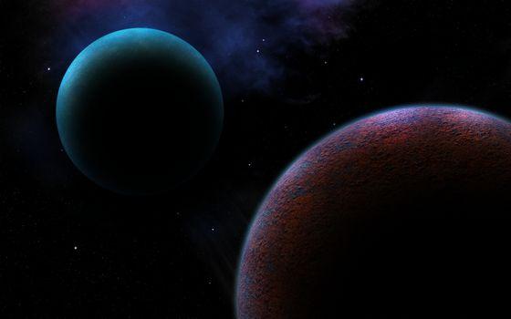 Фото бесплатно наука, туманность, планеты