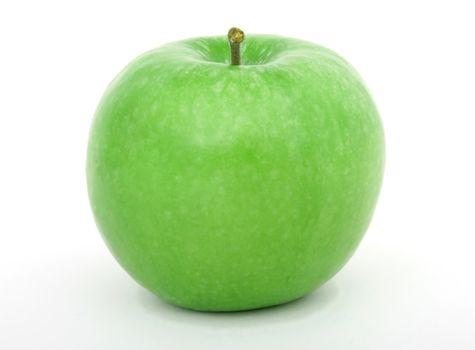 Photo free apple, green, white background