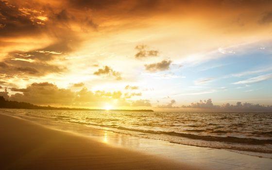 Фото на заставку пляж, волны