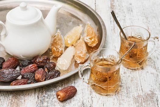 Photo free food, tea, kettle