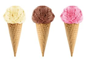 Бесплатные фото мороженое,белое,шоколадное,клубничное,трубочки