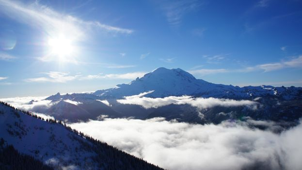 Photo free landscapes, above clouds, mountains