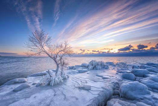 Фото бесплатно закат, море, небо