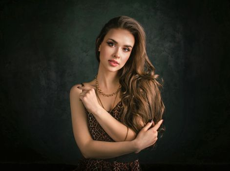 Photo of a girl, models of large sizes