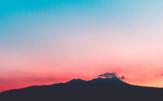Фото бесплатно Sunset, горы, природа
