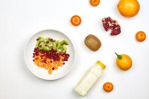 Photo free food, mandarin, grenade
