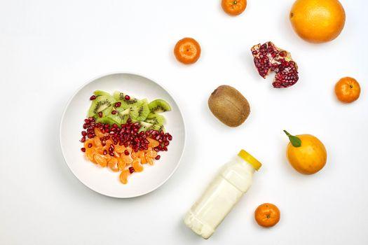 Заставки еда, мандарин, граната