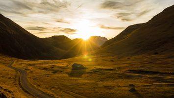 Бесплатные фото путешествия,свет,закат,облака,горы,дорога,дорожка