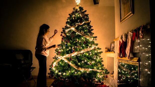 Фото бесплатно рождество, дерево, рождественское украшение