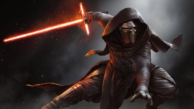Фото бесплатно дарт вейдер, звездные войны, лазерный меч