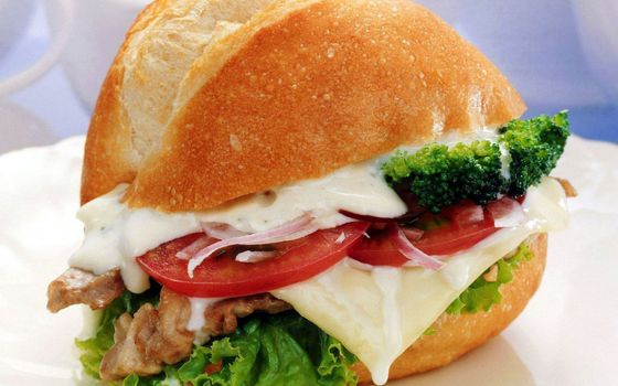 Photo free sandwich, cheese, meat