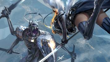 Заставки цифровое искусство,произведения искусства,WLOP,женщины,бедра,меч,щит