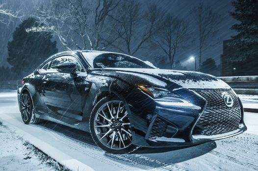 Photo free Lexus RCF, car, night