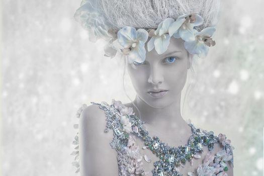 Photo free white, model, winter