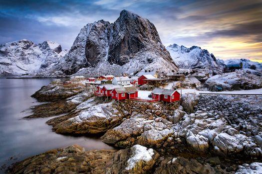 Бесплатные фото Лофотенские острова,Рейне,Reine,Норвегия,Lofoten,Lofoten Islands,fonwall ru