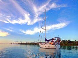 Photo free sea, boat, landscape