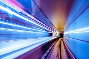 Фото бесплатно снимок из метро, движение, скорость, размытость