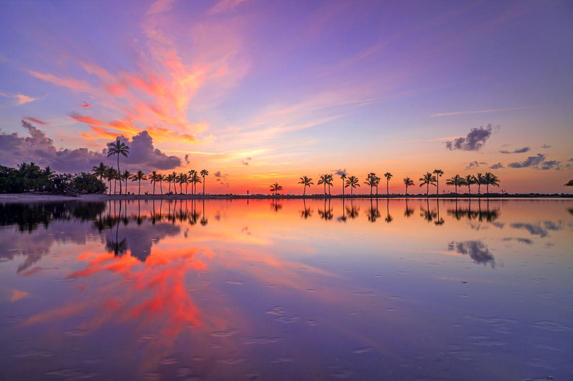 Картинка тропики, море, закат на рабочий стол. Скачать фото обои пейзажи