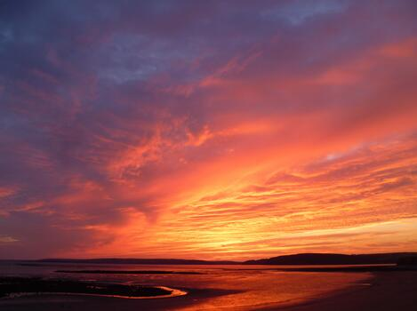 Photo free natural beauty, afterglow, sunset