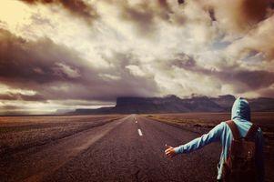 Фото бесплатно хитчер, небо, широкий