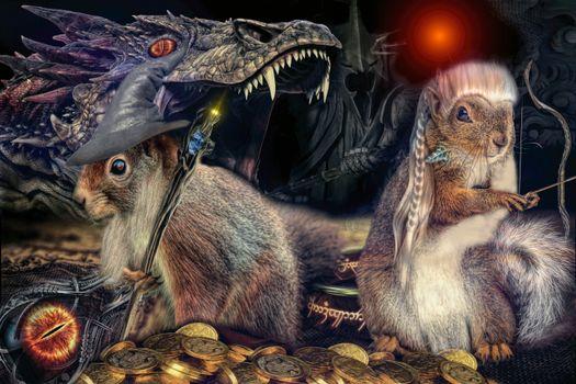 Заставки Повелитель Белок-Дракон, art, фантастика