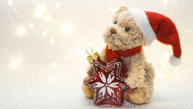 Photo free soft toy, christmas 2022, hat