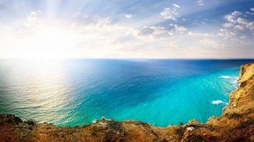 Фото бесплатно солнечный свет, море, залив
