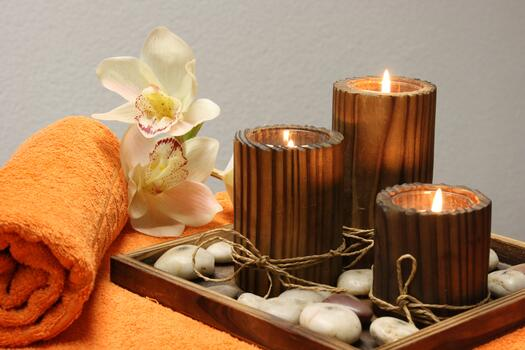 Photo free candles, free images, towel