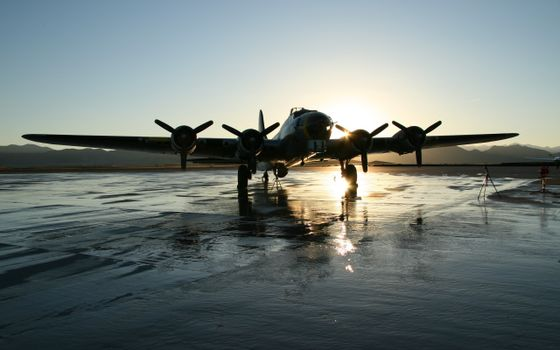 Photo free aircraft, podium, lights