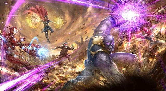 Фото бесплатно Мстители: Финал, супергерои, произведение искусства