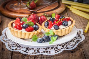 Фото бесплатно черника, торт, еда
