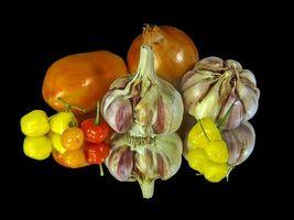Бесплатные фото чеснок,перец,лук,еда