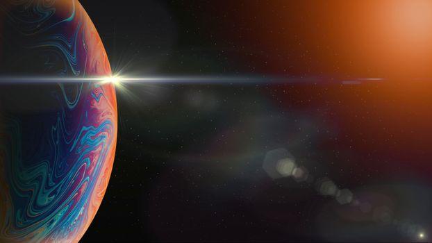 Фото бесплатно планета, газовый гигант, кольцо пыли