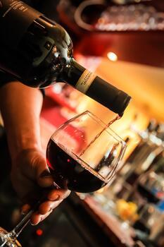 Photo free wine, glass, restaurant