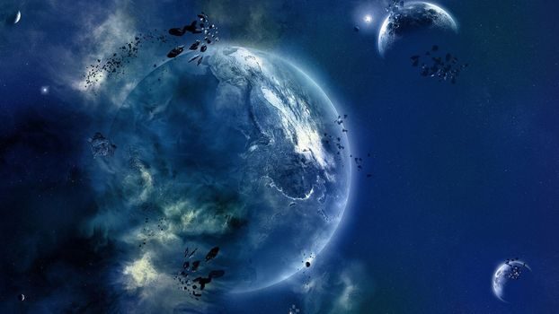 Photo free atmosphere of the earth, the universe, space