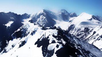 Фото бесплатно гора, пейзаж, снег