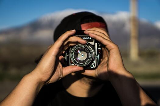 Фото бесплатно рука, мужчина, камера