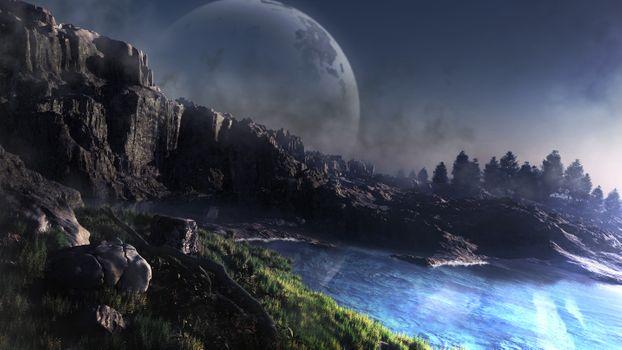 Фото бесплатно планета, поверхность, вода