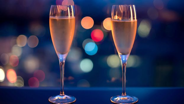 Photo free romanticism, champagne, glasses