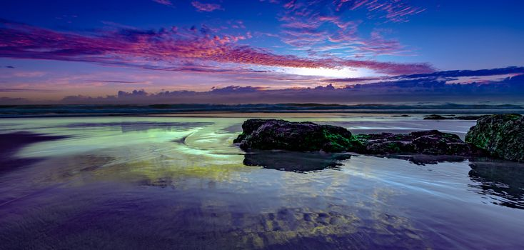 Photo free water reflections froggys beach, sunset, sea