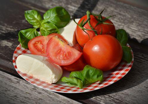 Фото бесплатно сыр, овощи, помидоры