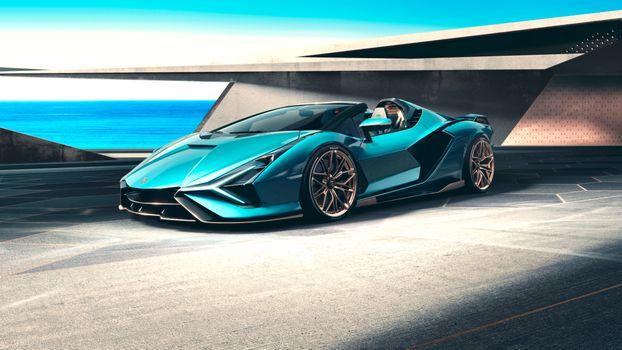 Фото бесплатно Lamborghini Sian, автомобили, автомобили 2020 года