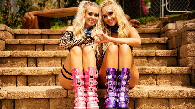 Photo free 2 babes, blonde, babes in boots