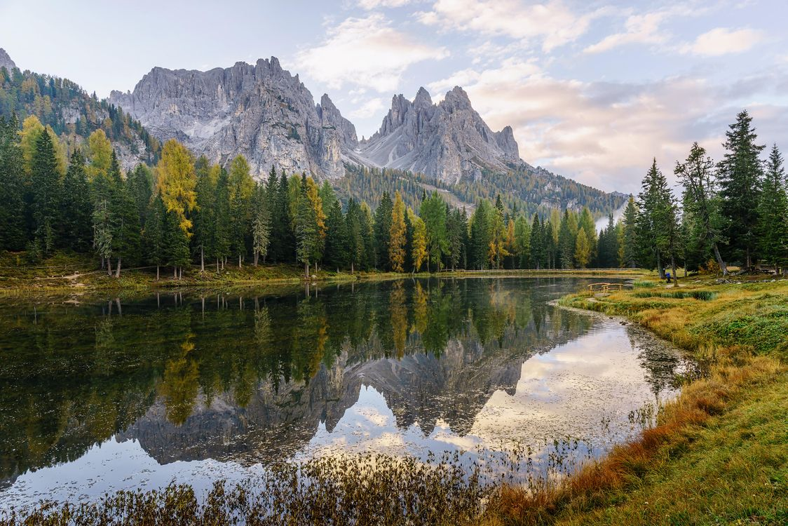 Фото бесплатно озеро Мизурина, Италия, горы - на рабочий стол