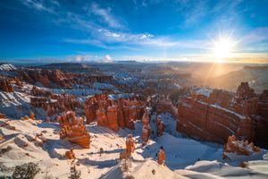 Фото бесплатно природа, США, солнце