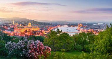 Фото бесплатно Будапешт, Венгрия, закат