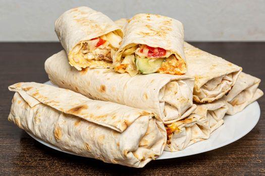 Photo free food, vegetables, lavash
