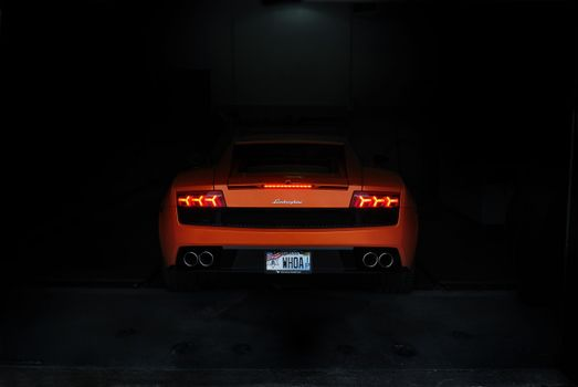 Photo free rear end, orange car, racing cars