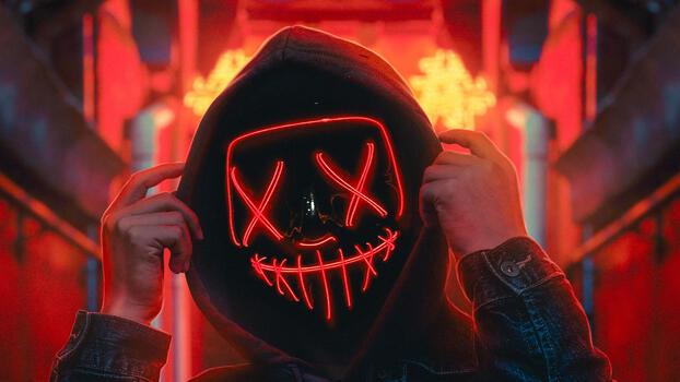 Фото бесплатно анонимус, красное лицо, маска