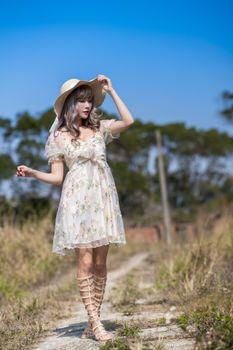 Photo free girls, hat, asiatic
